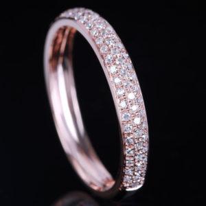 | REF : WB7001 | DIAMOND & ROSE GOLD BAND