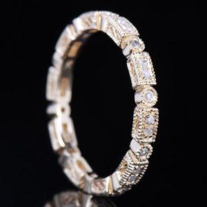 | REF : WB7008 | ART DECO DIAMOND BAND