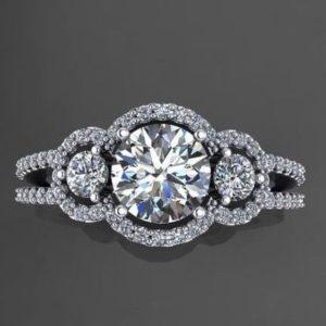 Halo Diamond Engagement Rings by Craig Marks Diamonds