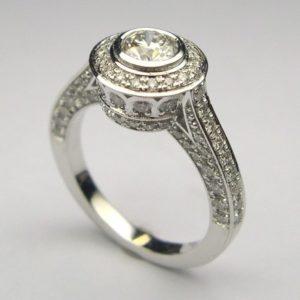 Halo Diamond Engagement Ring by Craig Marks Diamonds