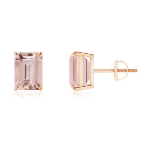 | REF : MORG129 | Morganite Earrings