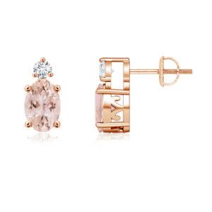 | REF : MORG130 | Morganite Earrings