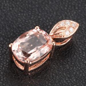 | REF : J9003 | 2.3 Carat Morganite Pendant