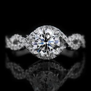   REF : SA1015   ROUND TWIST DIAMOND RING
