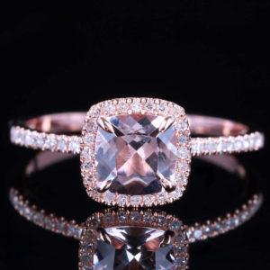 Diamond  and Morganite Engagement Rings by Craig Marks Diamonds
