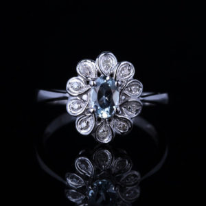   REF : GEM6004   TOPAZ & DIAMOND RING