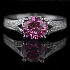   REF : GEM6009   PINK SAPPHIRE & DIAMOND RING