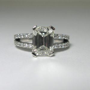 Emerald Diamond Engagement Rings by Craig Marks Diamonds