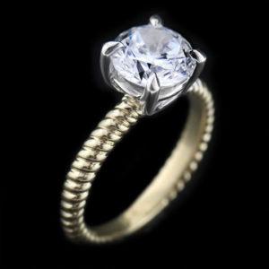 Round Solitaire Diamond Engagement by Craig Marks Diamonds